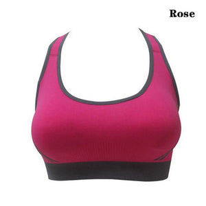 Womens Padded Athletic Fitness Sports Bra-Sports Bras-Look Love Lust