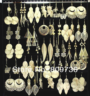 Bulk Gold Tone Fashion Earring Jewelry Sets (12 Pairs)-Jewelry-Look Love Lust
