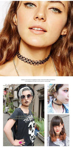 Vintage Stretch Tattoo Choker Necklace-Jewelry-Look Love Lust