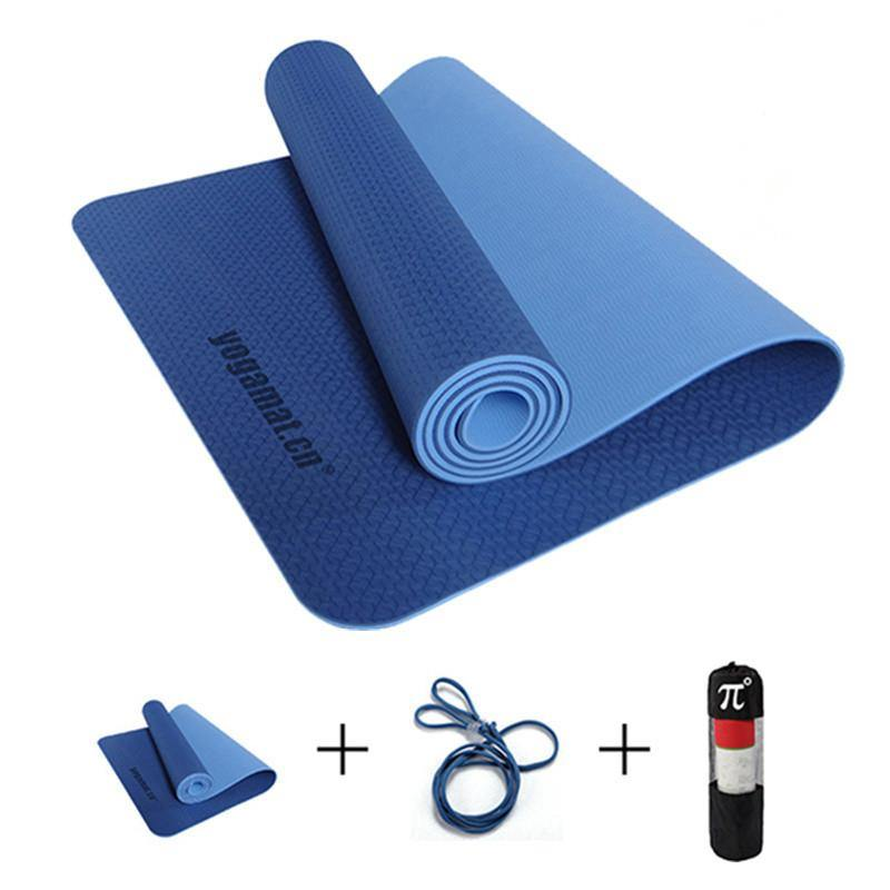 TPE Yoga Mats with Carrying Bag and Resistance band-Fitness Tools-Look Love Lust