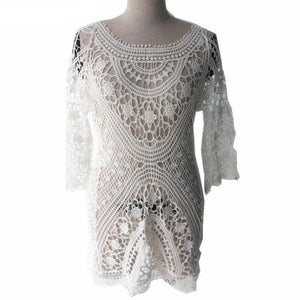 Lace Beach Cover Up Sarong-Cover-Ups-Look Love Lust
