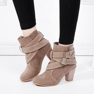 Suede Leather Ankle Boots-Look Love Lust