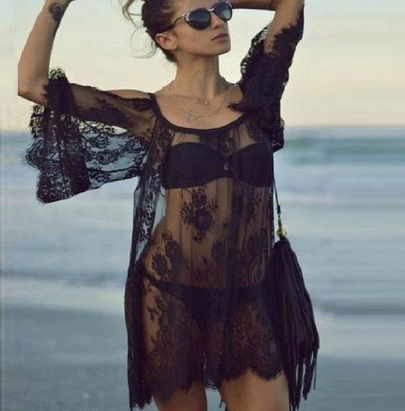Summer Lace Crochet Beach Cover Up-Swimwear-Look Love Lust