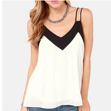 Load image into Gallery viewer, Loose Chiffon V-Neck Tank-Tank Top-Look Love Lust