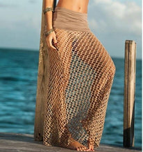 Load image into Gallery viewer, Women Fish Net Cover Up Maxi Skirt-Cover-Ups-Look Love Lust
