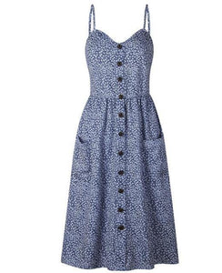 Summer Vintage Dress-Dresses-Look Love Lust