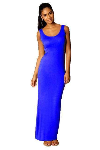 Stretchable Sleeveless Maxi Dress-Dresses-Look Love Lust