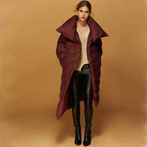 Asymmetric Long Down Filled Jacket-Down Coats-Look Love Lust