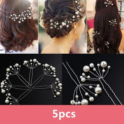 Fashion Hairpins Faux Pearl Hair Clip Pins-Hair Care-Look Love Lust