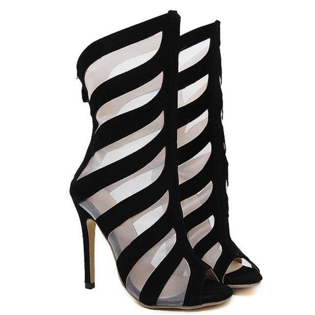 Mesh Cut Out High Heels-High Heels-Look Love Lust