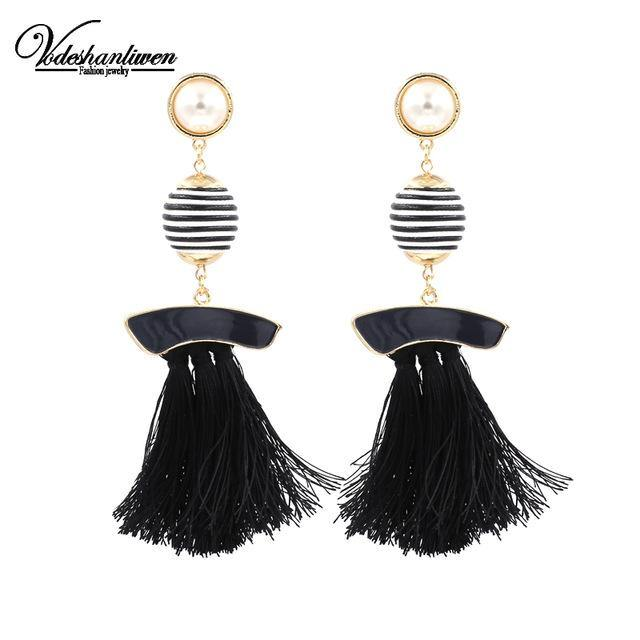 Fringed Dangle Earrings-Look Love Lust