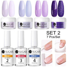 Load image into Gallery viewer, 10Pcs Dipping Nail Powder Set-Nail Glitter-Look Love Lust
