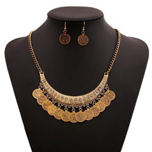 Load image into Gallery viewer, Multilayer CoinsTassel Choker Statement Necklace-Chain Necklaces-Look Love Lust