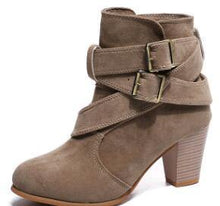 Load image into Gallery viewer, Suede Leather Ankle Boots-Look Love Lust