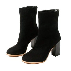 Zip Thick Heel Ankle Boots-Look Love Lust