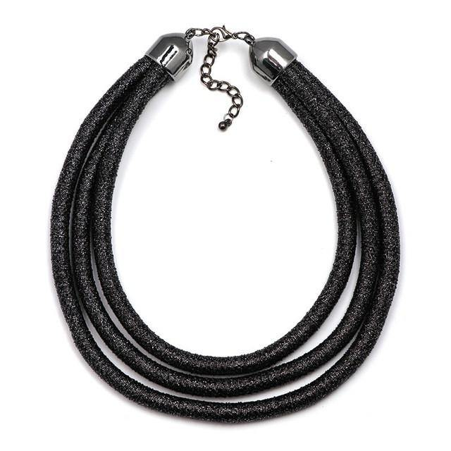 Multilayer Coil Statement Choker Necklace-Necklace-Look Love Lust