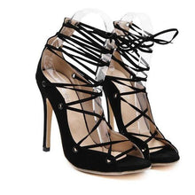 Load image into Gallery viewer, Roman Gladiator High Heel Lace Up Pumps-Stilettos-Look Love Lust