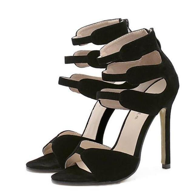 Strappy High Heel Stiletto-Stilettos-Look Love Lust