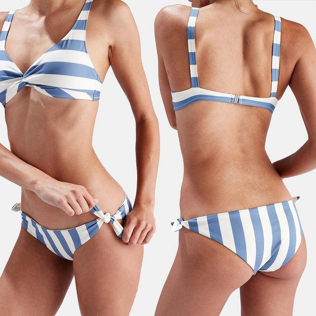Comfy Stripe Bikini Swimwear-Bikinis Set-Look Love Lust