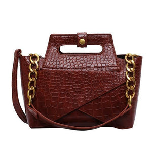 Vintage Alligator Handbag-Shoulder Bags-Look Love Lust