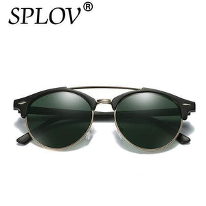 Polarized Aviator Round Sunglasses-Sunglasses-Look Love Lust