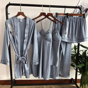 4PCS Bride Bridesmaid Sleepwear-Robes-Look Love Lust