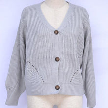 Load image into Gallery viewer, Knitted Loose V Neckline Cardigan-Cardigans-Look Love Lust