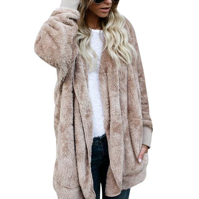 Faux Fur Teddy Bear Fashion Jacket-Jacket-Look Love Lust