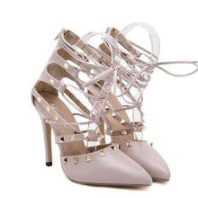 Load image into Gallery viewer, Studded Strappy High Heel Pumps-Women's Pumps-Look Love Lust