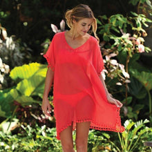 Load image into Gallery viewer, Womens Chiffon Tassel Beach Cover Up-Cover-Ups-Look Love Lust