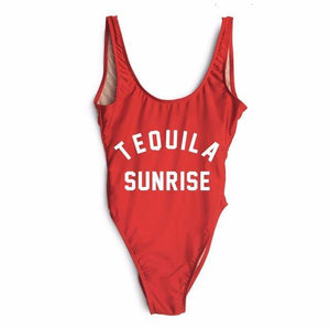 Sunrise Cocktail One Piece Swimsuit-Look Love Lust