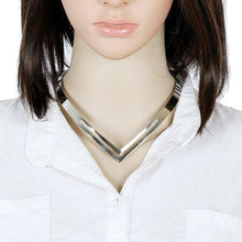 Load image into Gallery viewer, Rock V Choker Necklace-Torques-Look Love Lust