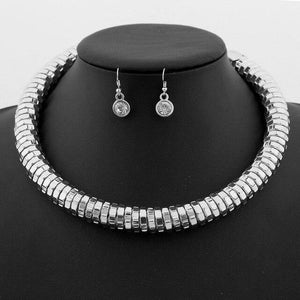 Maxi Choker Necklaces Earring set-Jewelry Sets-Look Love Lust