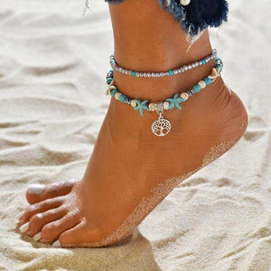 Summer Style Bohemian Gypsy Turkish Tribal Boho Anklet-Anklets-Look Love Lust