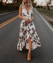 Load image into Gallery viewer, Floral Print Sleeveless Dress-Look Love Lust