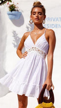 Load image into Gallery viewer, Sleeveless Backless High Waist Dress-Dresses-Look Love Lust