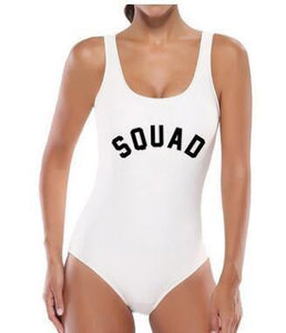 Squad Backless One Piece Bikini-Look Love Lust