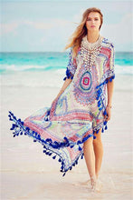 Load image into Gallery viewer, Tassel Kaftan Tunic-Cover-Ups-Look Love Lust