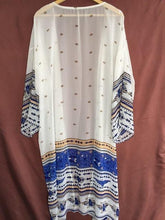 Load image into Gallery viewer, Geometric Print Blue& White Tunic Dress-Cover-Ups-Look Love Lust