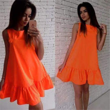 Load image into Gallery viewer, Sleeveless Ruffle Hem Mini Dress-Dresses-Look Love Lust