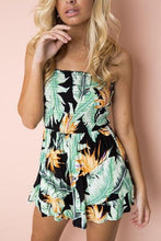 Load image into Gallery viewer, Floral Print Strapless Romper-Rompers-Look Love Lust