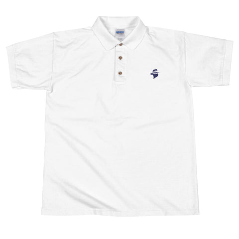 Embroidered Polo Shirt (White/Grey)