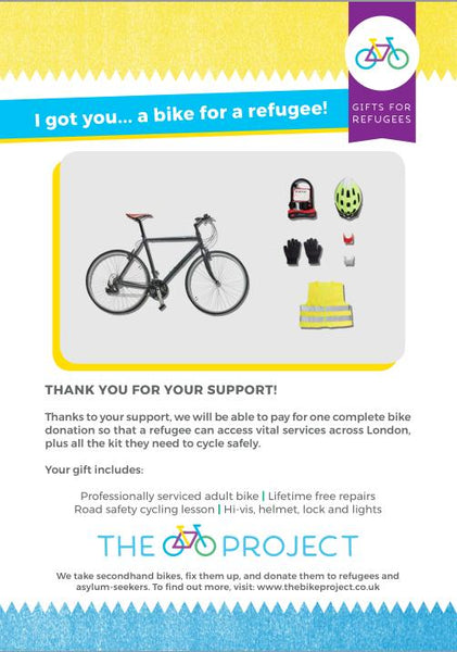 1 Bike for a Refugee