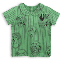 Mini Rodini_Fox Family T-Shirt - Green - The Child Hood