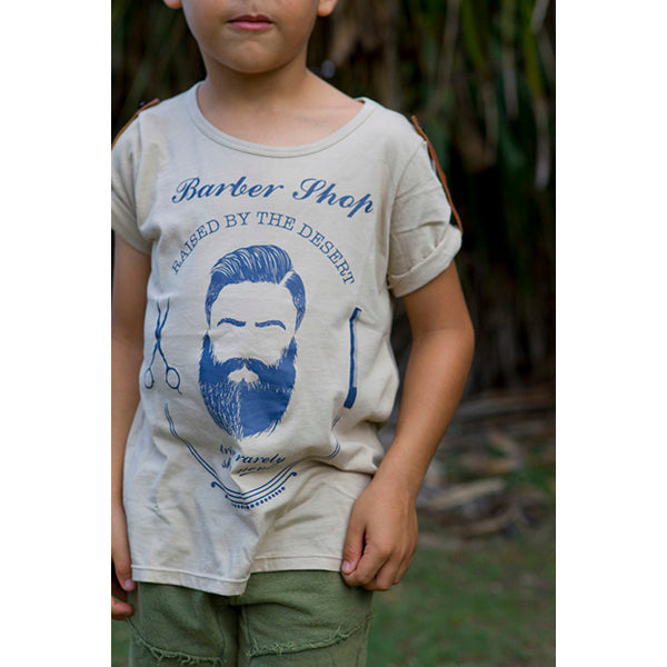 Raised by the Desert_Barber Shop T-Shirt - Canvas - The Child Hood