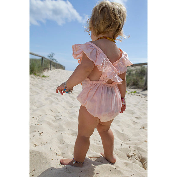 Bella & Lace_Jemimah Romper - Mimi Pink - The Child Hood