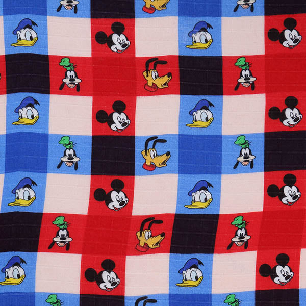Kip & Co_Disney x Kip & Co Check Mate Mickey Fitted Sheet - The Child Hood