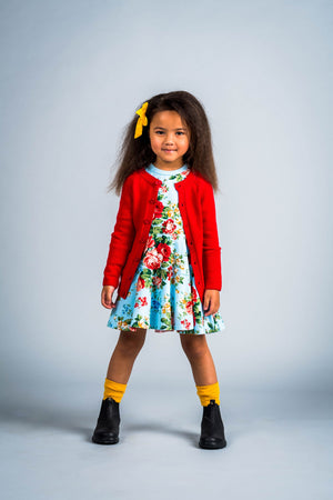 Rock Your Baby_Red Cardigan - The Child Hood