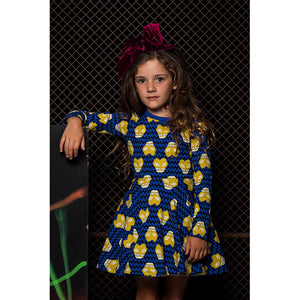 Rock Your Baby_Kalahari Leopard Long Sleeve Waisted Dress - The Child Hood