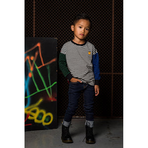 Rock Your Baby_Multi Coloured Stripe Long Sleeve T-Shirt - The Child Hood